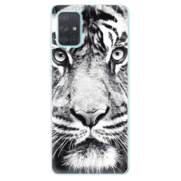 Odolné silikonové pouzdro iSaprio - Tiger Face - Samsung Galaxy A71