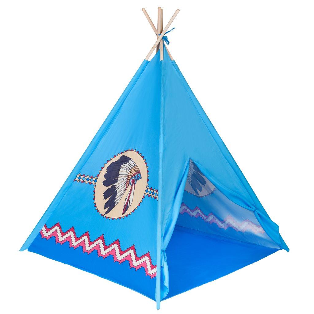 Dětský indiánský stan teepee PlayTo - modrá