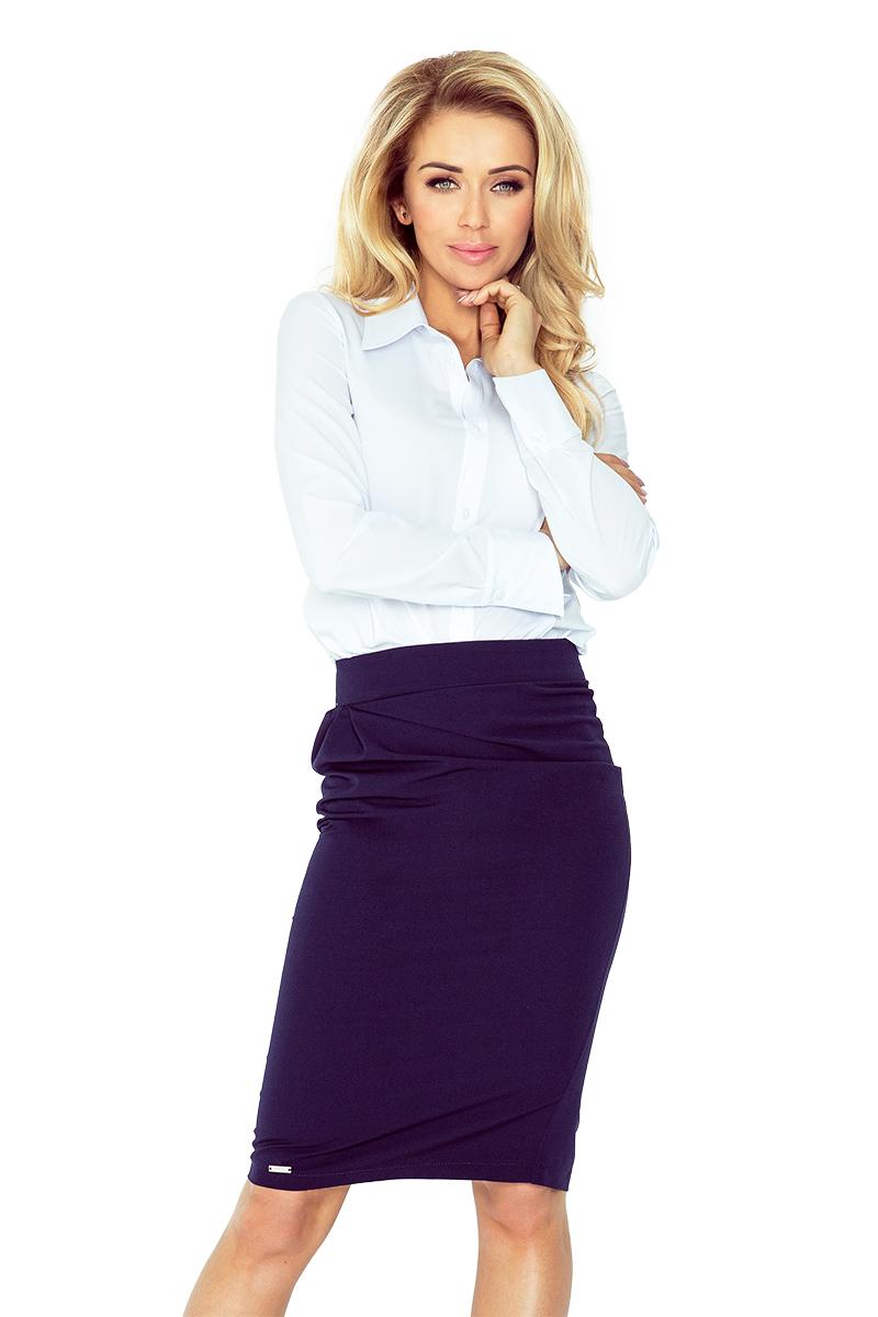 Tmavě modrá sukně s překlady model 4977724 - XS