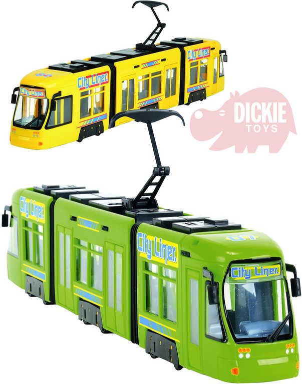DICKIE Tramvaj volný chod 46cm City Liner 2 barvy
