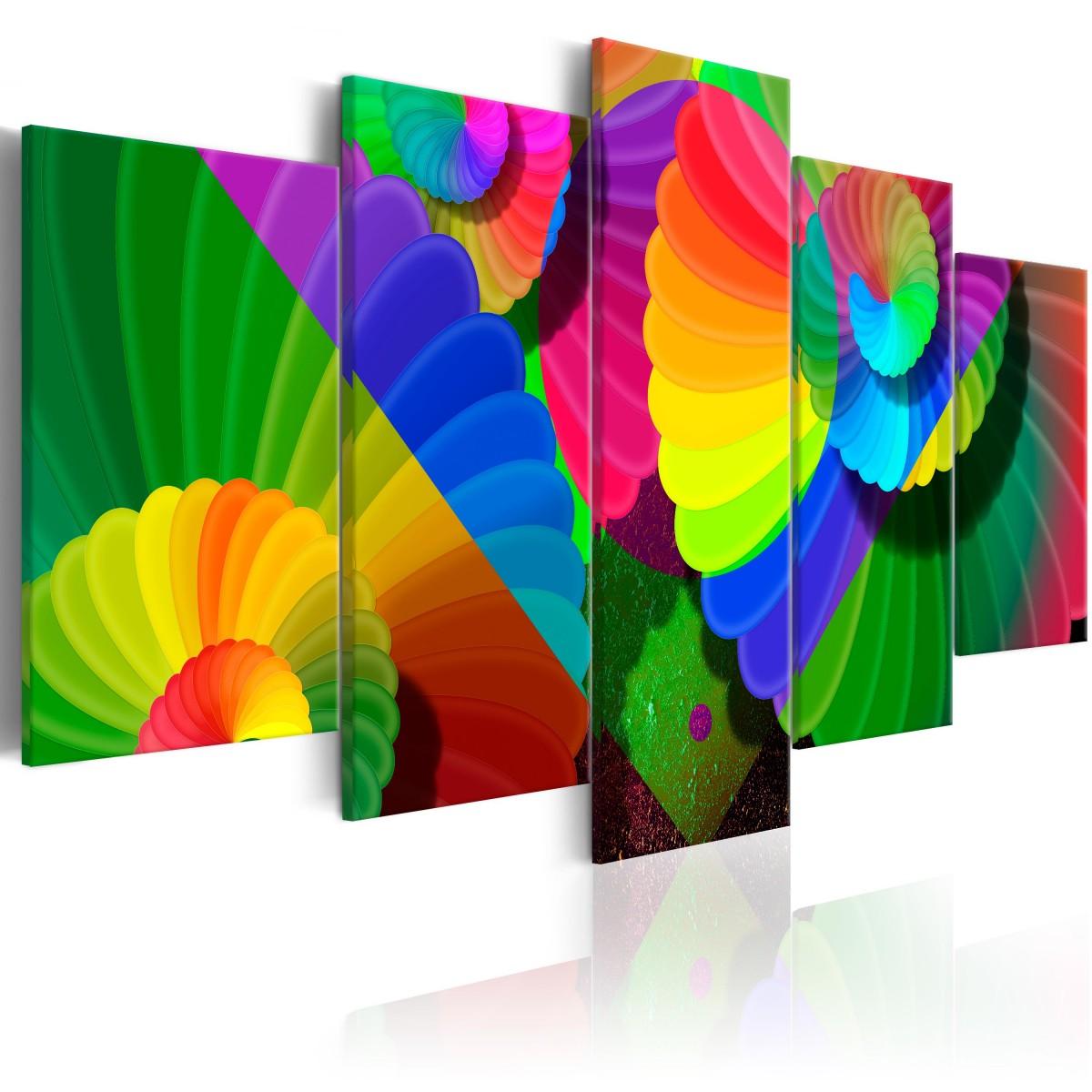 Abstraktní obraz - barevné květy