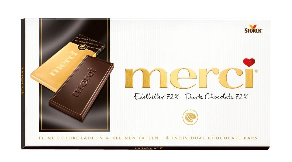 Hořká čokoláda s obsahem kakaa 72% 100 g