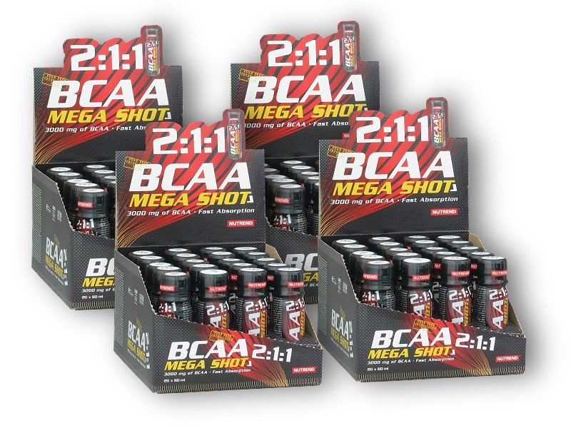 3x BCAA Liquid Shot 2:1:1 20x60ml +1x zdarma