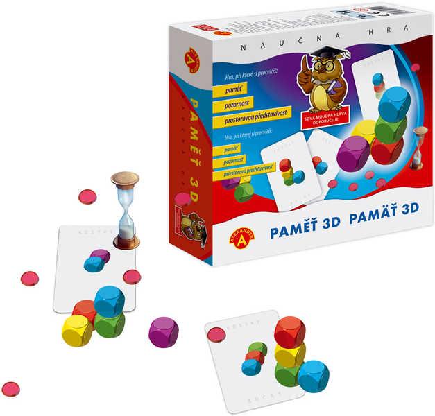 Paměť 3D hra společenská v krabici *SPOLEČENSKÉ HRY*