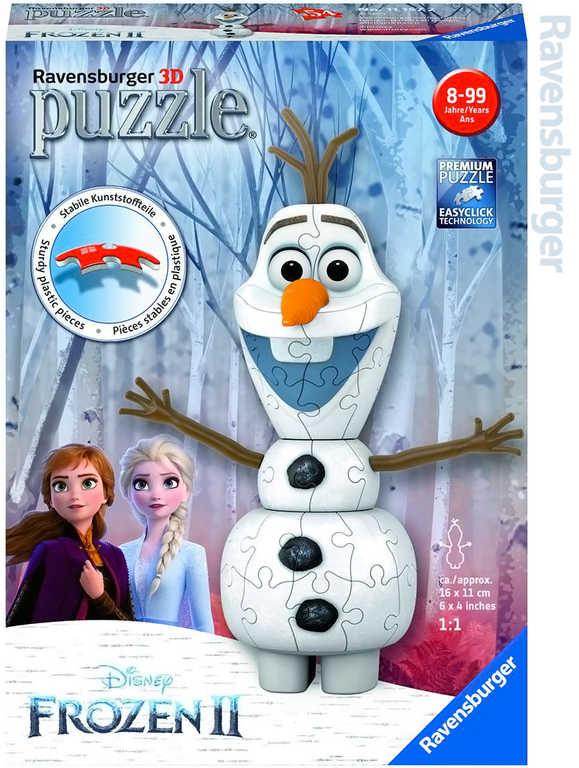 RAVENSBURGER Puzzle 3D Olaf Frozen 2 (Ledové Království) 54 dílků skládačka plast
