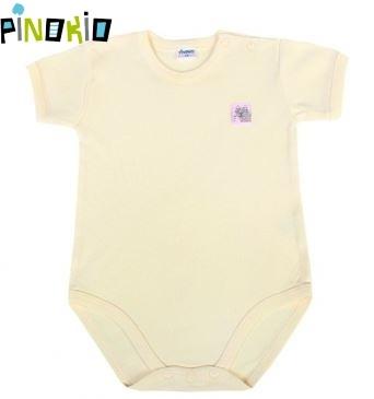Body kr.rukáv PINOKIO - žlutá/krémová - 98 (24-36m)