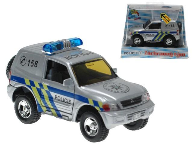 Auto Mitsubishi kovové policie 12 cm PB (zpětný nátah) KOV