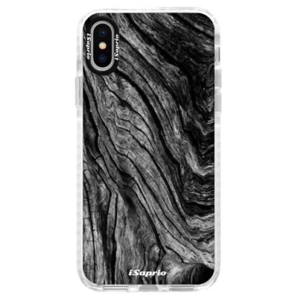 Silikonové pouzdro Bumper iSaprio - Burned Wood - iPhone X
