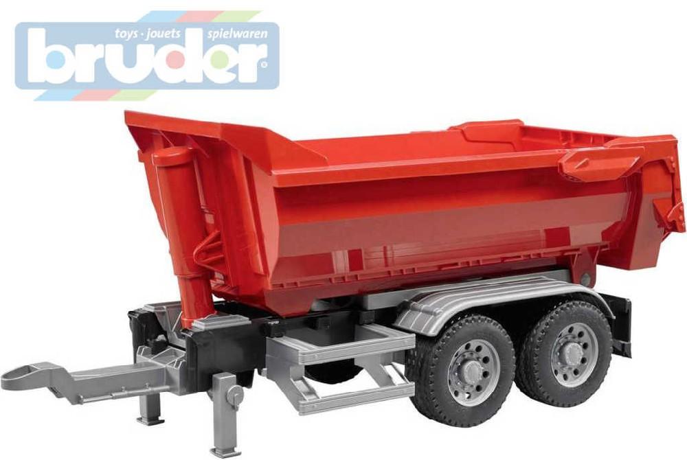 BRUDER 03923 (3923) Přívěs sklápěcí pro nákladní auto červený model 1:16 plast