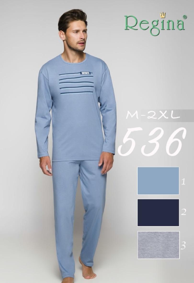 536 Pánské pyžamo - Tmavě modrá/XL