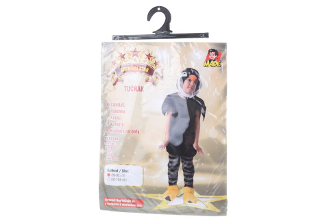 Šaty na karneval - tučňák, 80 - 92 cm