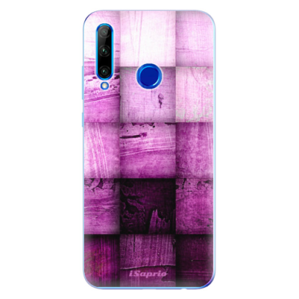 Odolné silikonové pouzdro iSaprio - Purple Squares - Huawei Honor 20 Lite
