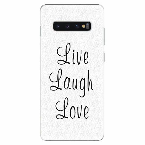 Plastový kryt iSaprio - Live Laugh Love - Samsung Galaxy S10+