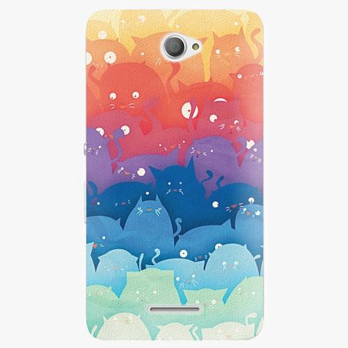 Plastový kryt iSaprio - Cats World - Sony Xperia E4