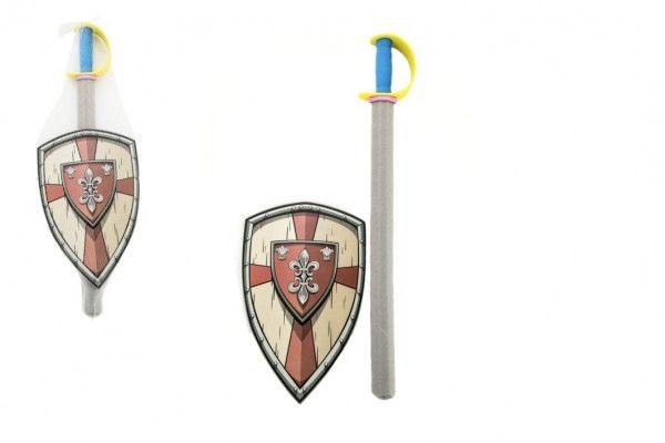 Meč pěna se štítem 75cm v síťce