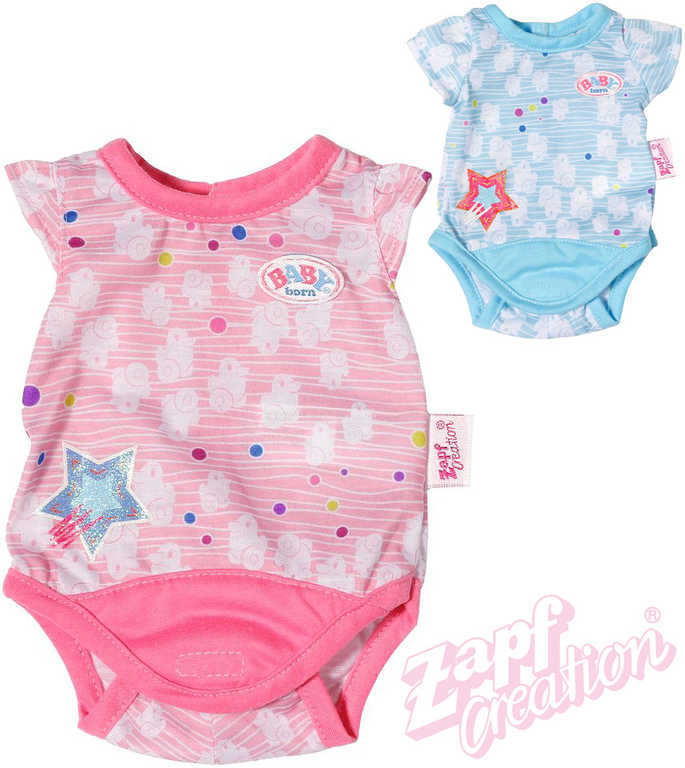 ZAPF BABY BORN Oblečení body s kačenkami pro panenku miminko 2 barvy