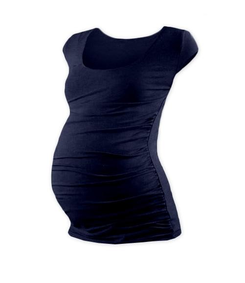 JOŽÁNEK Těhotenské triko mini rukáv JOHANKA - tmavě modrá