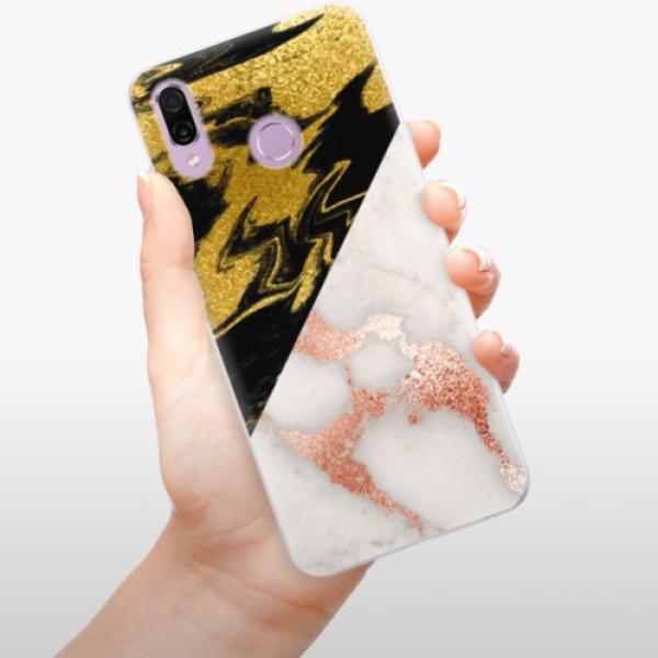 Silikonové pouzdro iSaprio - Shining Marble - Huawei Honor Play