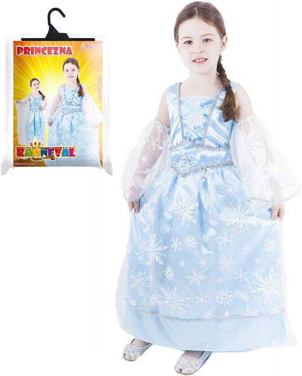KARNEVAL Šaty Princezna zimní vel. S (110-116 cm) 4-6 let KOSTÝM