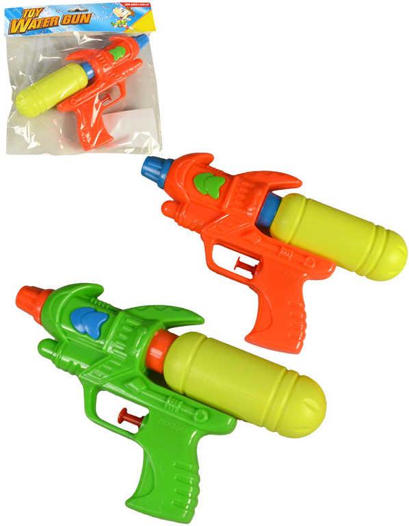 Pistole dětská vodní plastová 20cm s nádržkou na vodu 2 barvy