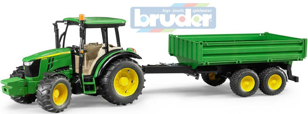 BRUDER 02108 (2108) Traktor John Deere 5115M set s valníkem model 1:16 plast