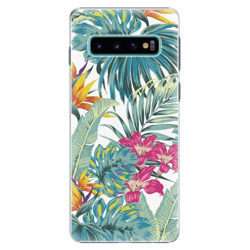 Plastový kryt iSaprio - Tropical White 03 - Samsung Galaxy S10