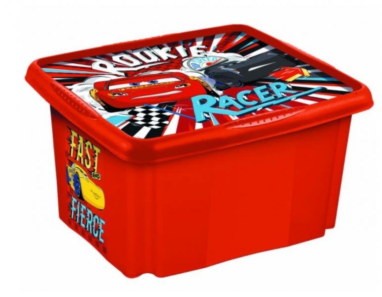 Keeeper Box na hračky Cars II, 24 l - červený