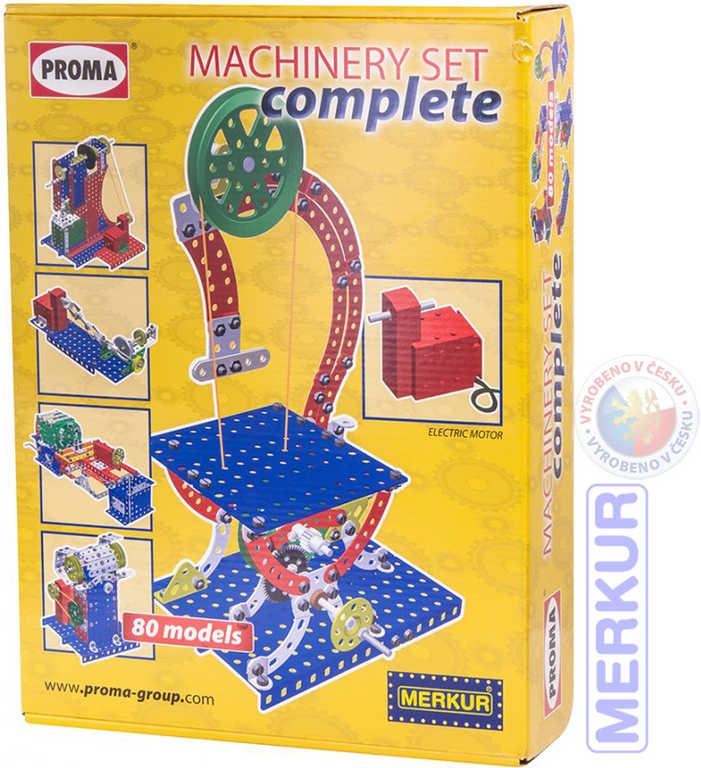 MERKUR PROMA Machinery set Complete 80 modelů KOVOVÁ STAVEBNICE