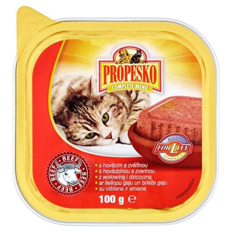 Vanička s hovězím a zvěřinou kompletní krmivo pro dospělé kočky 100 g