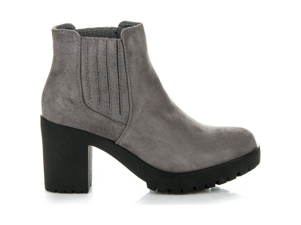 Dámské kotníkové boty 1278-6D.G - VICES - Tmavě šedá/39