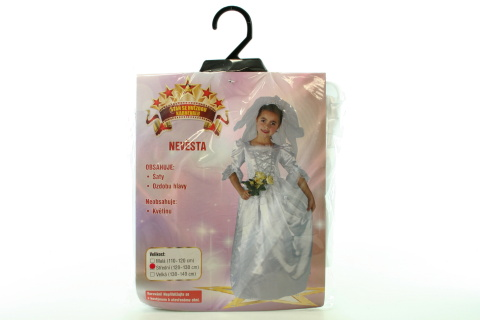 Šaty na karneval - Nevěsta, 120 - 130 cm