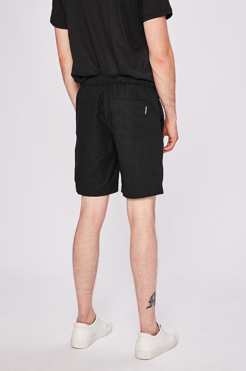 Pánské kraťasy KM0KM00186-001 černá - Calvin Klein - Černá/XL