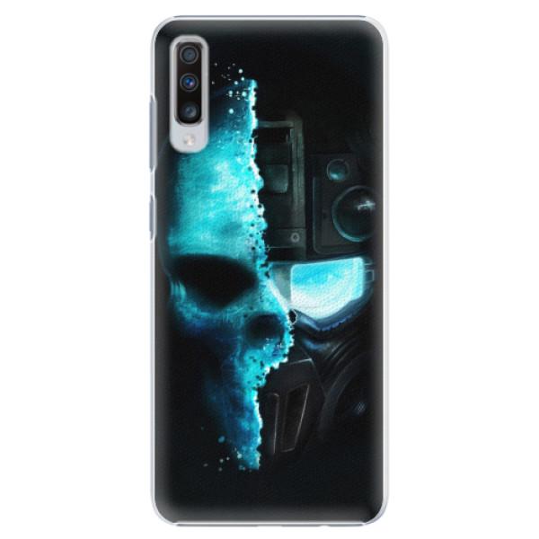 Plastové pouzdro iSaprio - Roboskull - Samsung Galaxy A70