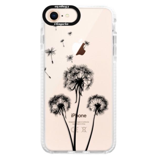 Silikonové pouzdro Bumper iSaprio - Three Dandelions - black - iPhone 8