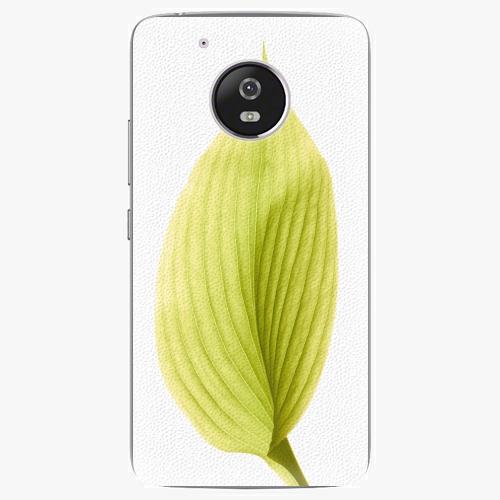 Plastový kryt iSaprio - Green Leaf - Lenovo Moto G5