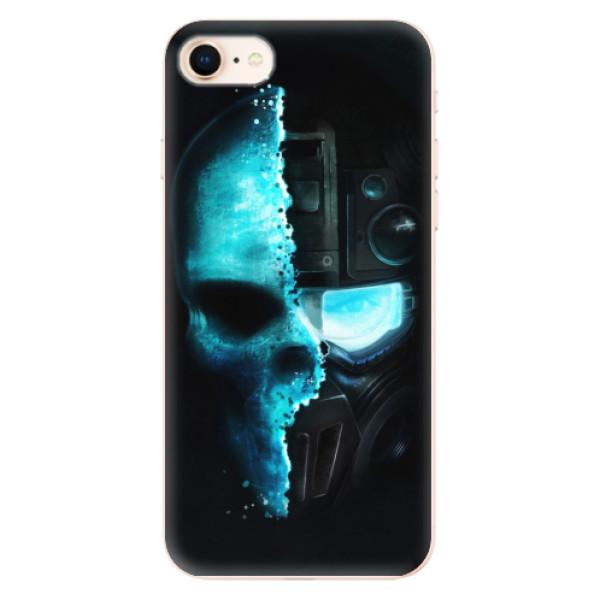 Odolné silikonové pouzdro iSaprio - Roboskull - iPhone 8