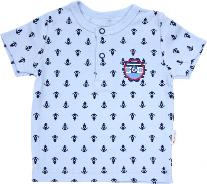 Polo tričko krátký rukáv Mamatti - Delfín kotvička - 86 (12-18m)