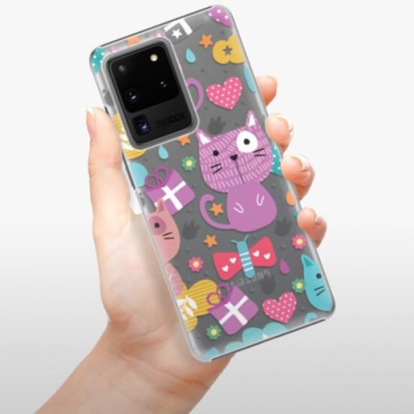 Plastové pouzdro iSaprio - Cat pattern 01 - Samsung Galaxy S20 Ultra