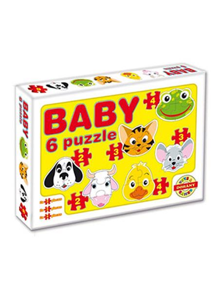 Dětské Baby puzzle - žlutá