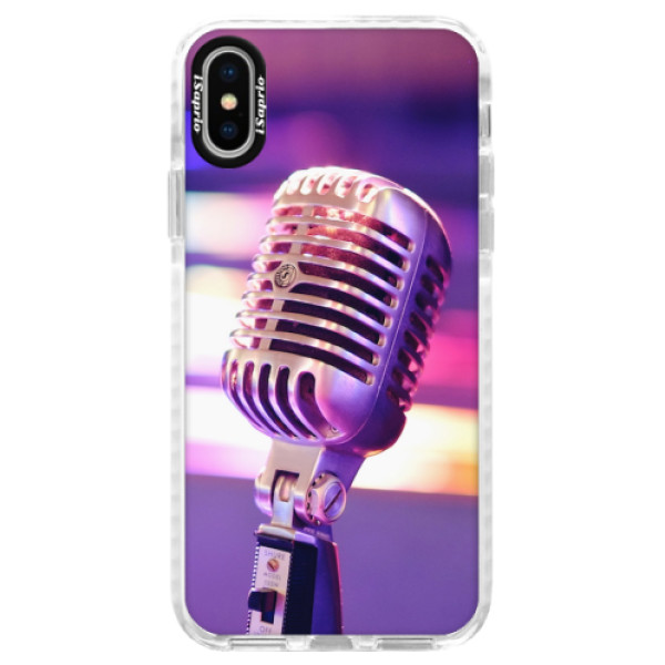 Silikonové pouzdro Bumper iSaprio - Vintage Microphone - iPhone X