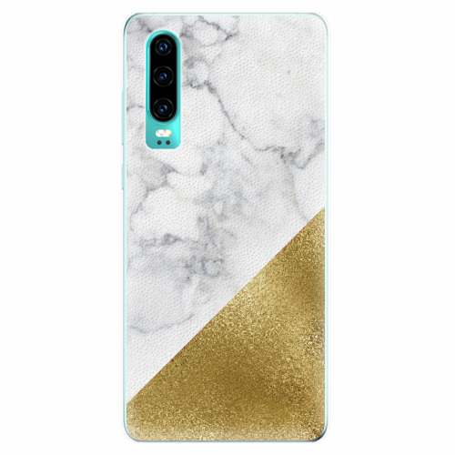 Silikonové pouzdro iSaprio - Gold and WH Marble - Huawei P30