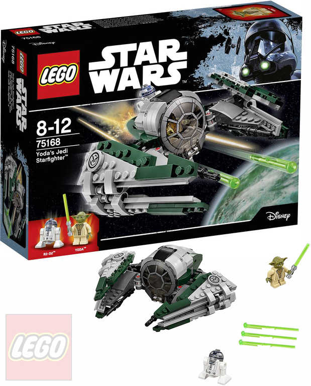 LEGO STAR WARS Yodova jediská stíhačka 75168 STAVEBNICE