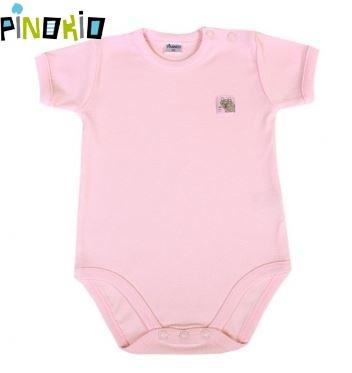 Body kr.rukáv PINOKIO - růžové - 86 (12-18m)