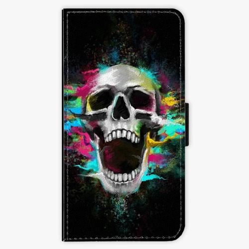 Flipové pouzdro iSaprio - Skull in Colors - Huawei P9