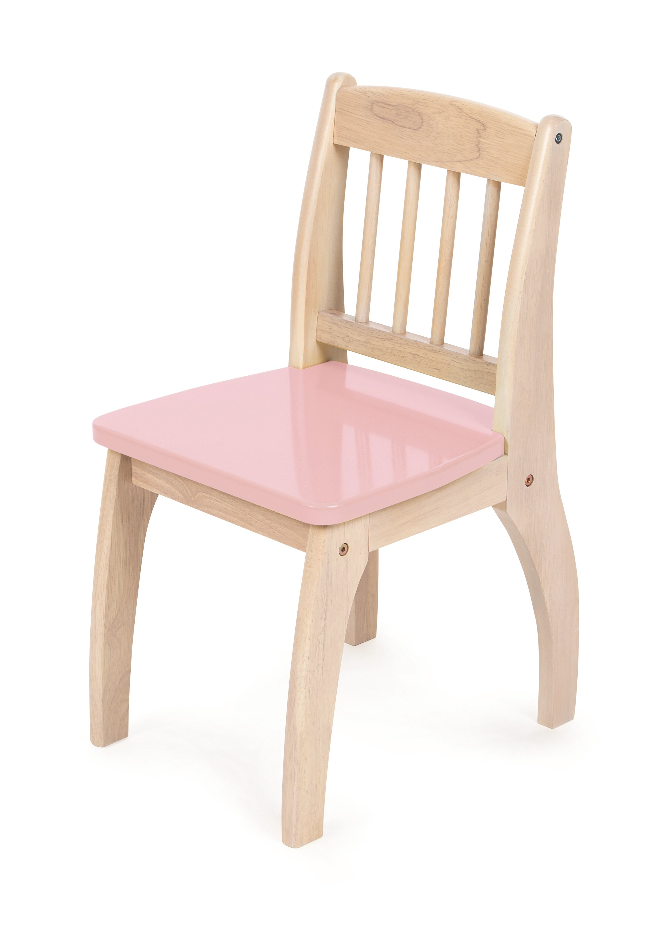 Tidlo Dřevěná židlička Junior růžová