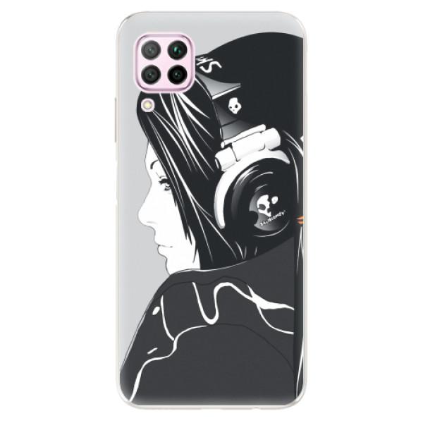 Odolné silikonové pouzdro iSaprio - Headphones - Huawei P40 Lite