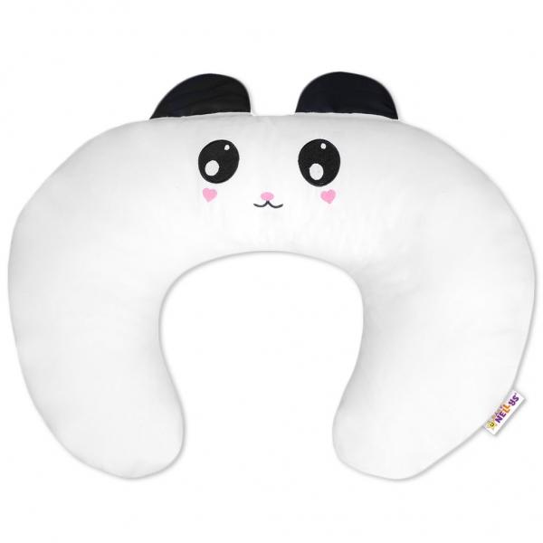 Kojící polštář/podkova s oušky - Panda