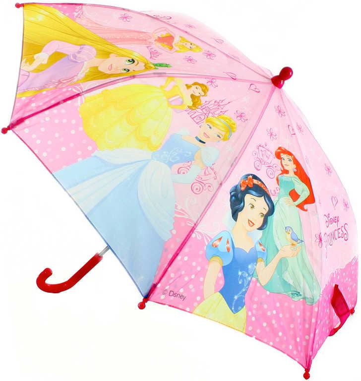 Deštník dětský Disney Princezny (Princess) manuální otevírání růžový