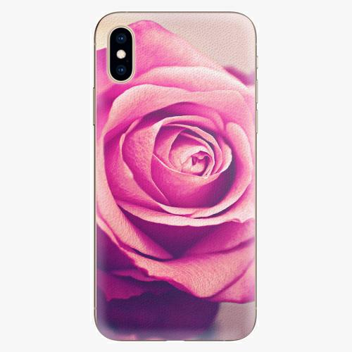 Plastový kryt iSaprio - Pink Rose - iPhone XS
