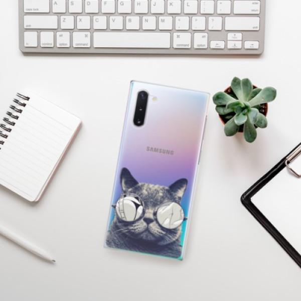 Plastové pouzdro iSaprio - Crazy Cat 01 - Samsung Galaxy Note 10